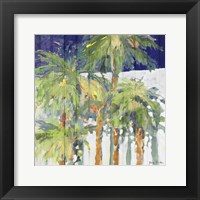 Wood Shadow Palms I Framed Print