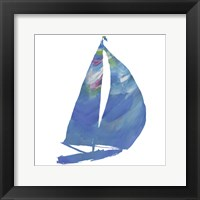 Set Sail on White II Framed Print