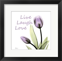 Framed Purple Tulips Live Laugh Love