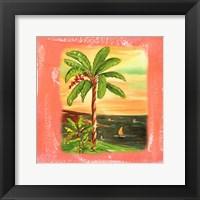 Framed Beach-Front Banana Tree