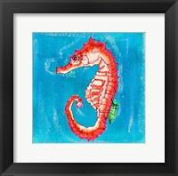 Framed Beach Seahorse