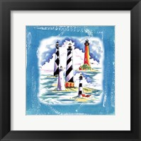 Framed Beach-Front-Lighthouses