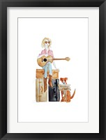 Framed Nashville travel illo