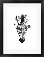 Framed Zebra Splash