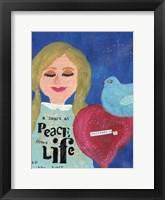 Framed Heart At Peace 2