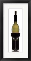 Framed Red Wine on White
