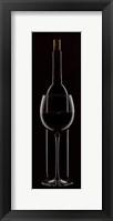 Framed Red Wine On Black