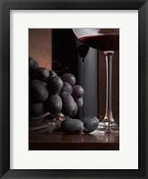 Framed Black Grapes