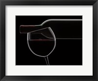 Framed Red Wine Silhouette