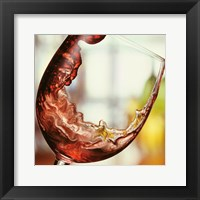 Framed Red Wine Pour