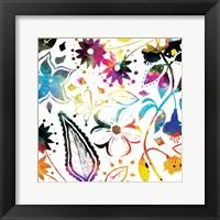 Framed Colorful Florals Mate