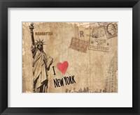 Framed Post Card New York