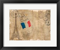 Framed Post Card Paris
