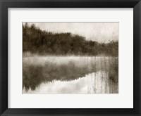 Framed Misty Morning on the Lake