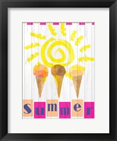 Framed Summer Ice Cream Cones