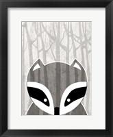 Framed Woodland Racoon