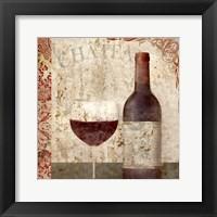 Framed Vintage Wine 1