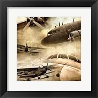 Framed Vintage Plane Montage 82530