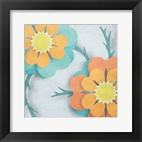 Framed Flowers In The Wind