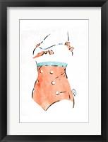 Framed Vintage Swimsuit Pastel 3