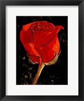 Framed Golden Rose