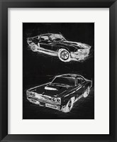 Framed Car Black Print