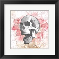 Framed Floral Skull