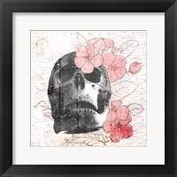 Framed Floral Skull Mate