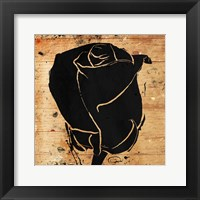 Framed Ink Rose