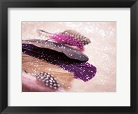 Framed Glitter Feathers