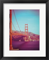 Framed Retro Golden Gate