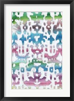 Watercolor Ikat I Framed Print