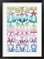 Watercolor Ikat II Framed Print