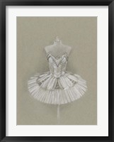 Ballet Dress I Framed Print