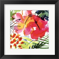 Framed Jungle Hibiscus I