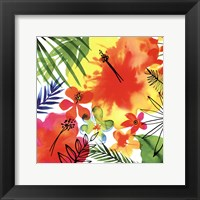 Framed Jungle Hibiscus II