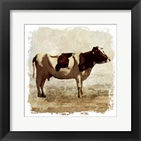 Framed Rustic Cow