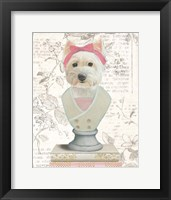 Canine Couture Newsprint II Framed Print