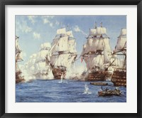 Framed Battle of Trafalgar