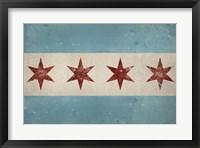 Framed Chicago Flag