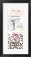 Framed Paris Roses Panel VII