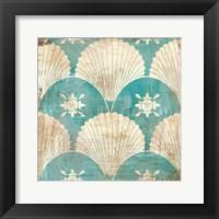 Framed Bohemian Sea Tiles I
