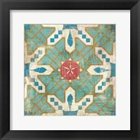 Framed Bohemian Sea Tiles III