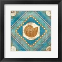 Framed Bohemian Sea Tiles V