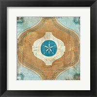 Framed Bohemian Sea Tiles VII
