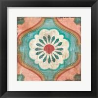 Framed Bohemian Sea Tiles VIII
