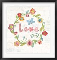 Wreath Inspiration I Framed Print