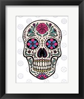 Framed Sugar Skull on Gray
