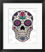 Framed Sugar Skull IV on Gray