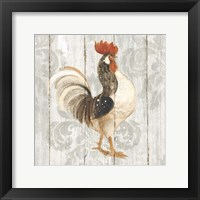 Farm Friend I on Barn Board Framed Print